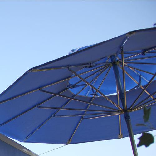 recouvrage parasols terrasses toiles double toit pour. Black Bedroom Furniture Sets. Home Design Ideas